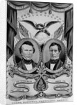 Franklin Pierce and William King on Election Poster by Corbis