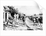 Minuteman Leaving Family to Join War by Corbis