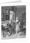 Mozart Playing Piano for Young Songstress by Corbis