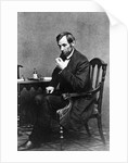 President Abraham Lincoln Sitting in Chair by Corbis