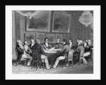 Illustration of Louis Philippe Signing Proclamation by Corbis