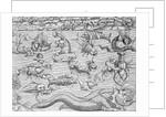 Illustration of Mythical Sea Monsters by Sebastian Munster