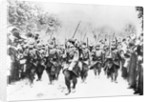 French Soldiers Approaching Front Line by Corbis