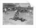 Injured Player Lying on the Field by Corbis