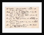 Display of Poem by Walt Whitman on Abraham Lincoln's Death by Corbis
