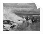 Civil War Water Battle by Corbis