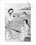 Woodblock Print of Japanese Female Pearl Divers by Corbis