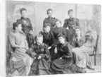 Group of Women Posing in Dresses by Corbis