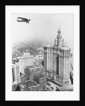 Aircraft Flying over New York by Corbis