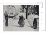 Adults with jumping rope in street, New York City, New York State, USA by Corbis