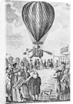 Crowd Watching Hot Air Balloon Ascending at Moorfields by Corbis