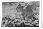 Ships in Stormy Sea by Corbis