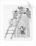 Men on and near Ladder While Constructing a Tower by Corbis