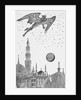 Illustration of the Devil Hovering over City of Constantinople by Corbis