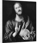 Christ Holding Round Circular Object by Corbis