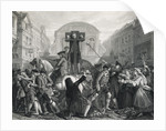 Illustration of Daniel DeFoe in the Pillory by Corbis