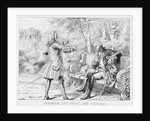 Frederick the Great and Voltaire Print by Corbis