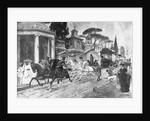 Carriage Dashing Through Town by Corbis