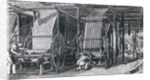 Illustration Depicting Calico Printing at a Factory by Corbis