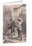 Nathaniel Bacon and William Berkeley Disputing by Corbis