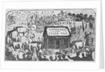 Illustration Showing Various Components of an Early American Political Barbecue by Corbis