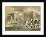 Firemen Pulling Steam Fire Engine by Corbis