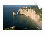 The Manneport Arch and Aiguille of Etretat Cliffs, France by Corbis