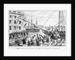 19th-Century Lithograph of Boston Tea Party by Corbis