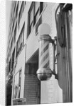 Barber Pole Outside of Shop by Corbis