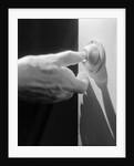 Hand Pressing a Door Bell by Corbis