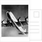 View of Large Airplane in Flight by Corbis