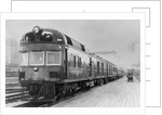 Diesel Electric Rail Car at North Station by Corbis