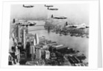 Bombers Flying in Formation over the Hudson River by Corbis