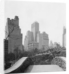 New York City Skyscrapers and Hotel Seen from Pedestrian Bridge by Corbis