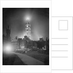 City Hall Tower with Night Lights by Corbis