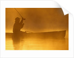 Fly Fishing from a Canoe by Corbis