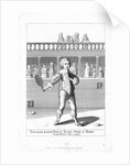 Engraving of James Duke of York Playing Tennis, ca. 1640 by Corbis