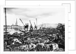 A Military Scrapyard, Rouen Docks by Corbis