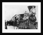 Men and Canadian Steam Locomotive by Corbis
