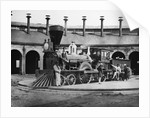 Men and Canadian Locomotive by Corbis