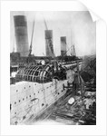 Turbine Engines of RMS Aquitania Are Fitted by Corbis