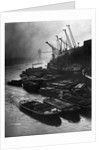 Barges Moored at Hays Wharf by Corbis