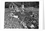VE Day Revelers Outside Buckingham Palace by Corbis