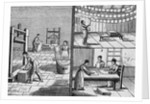 Engraving of the Process of Paper Making by Hand