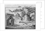 Engraving of a Charcoal Burner at Work by Corbis