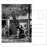 Toy Soldiers and Anti-aircraft Artillery by Corbis