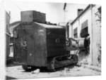 Bulldozer Crashes During British-Greek Uprising by Corbis
