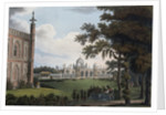 Illustration of Proposed View of West Front of Royal Pavilion Facing Towards the Garden by Corbis