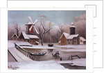 Ice Skaters on a Frozen Pond by Henri Rousseau