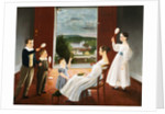 Colonial American Painting of a Family at Play by Corbis